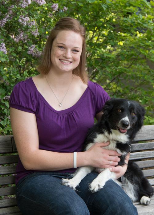 Lindsay Carroll with dog