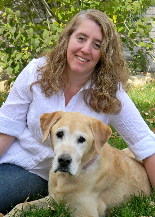 Connie Croak with dog