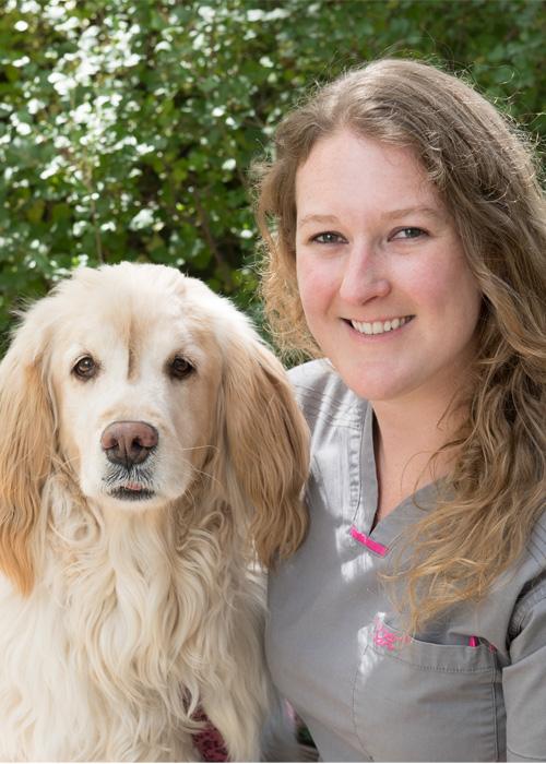 Deanna Williams with dog
