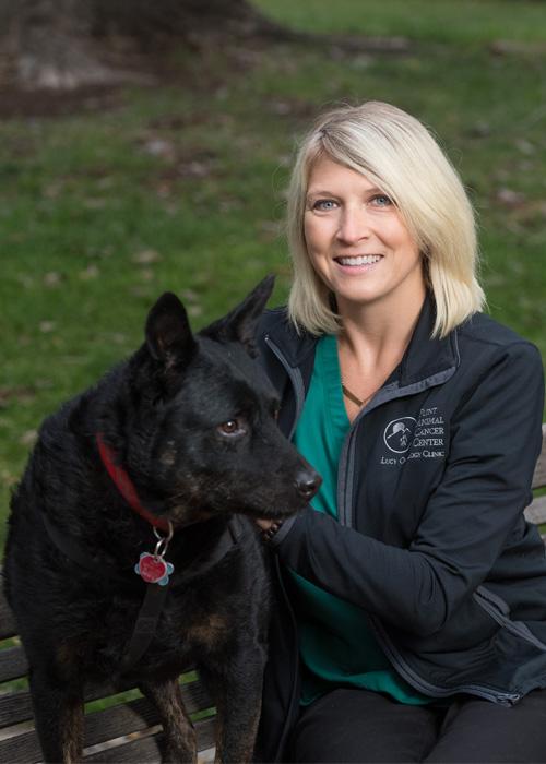 Kristine Ibis with dog