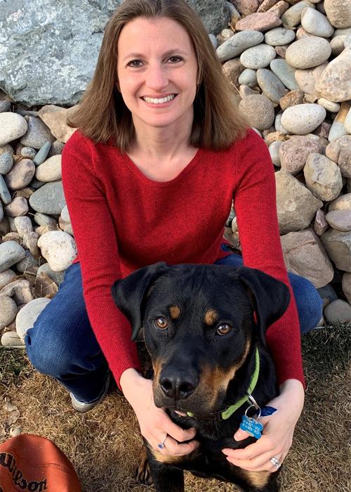Lisa Group with dog
