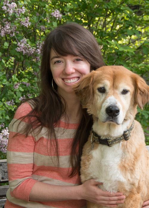 Lisa Regan with dog